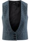 Жилет классический с декоративными карманами oodji #SECTION_NAME# (синий), 12300102/22124/7029C