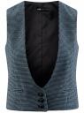 Жилет классический с декоративными карманами oodji для женщины (синий), 12300102/22124/7029C