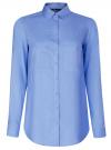 Блузка базовая из вискозы с карманами oodji #SECTION_NAME# (синий), 11400355-4/26346/7501N