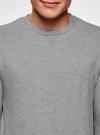 Свитшот свободного силуэта с декоративной вставкой oodji #SECTION_NAME# (серый), 5L113092M/47194N/2500M - вид 4