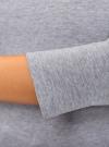 Футболка с рукавом 3/4 и открытыми плечами oodji для женщины (серый), 14207007B/46867/2000M - вид 5