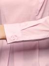 Блузка базовая с баской oodji #SECTION_NAME# (розовый), 11400444B/42083/4000N - вид 5