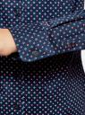 Рубашка базовая с нагрудным карманом oodji #SECTION_NAME# (синий), 11403205-9/26357/7543G - вид 5
