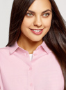 Блузка базовая из вискозы oodji #SECTION_NAME# (розовый), 11411136B/26346/4000N - вид 4
