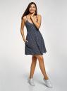 Платье вискозное на тонких бретелях oodji #SECTION_NAME# (синий), 11900231-1/49181/7912O - вид 6