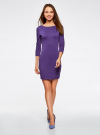 Платье облегающего силуэта на молнии oodji #SECTION_NAME# (фиолетовый), 14001105-6B/46944/8300N - вид 2