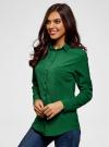 Блузка прямого силуэта с нагрудным карманом oodji #SECTION_NAME# (зеленый), 11411134B/46123/6E00N - вид 2