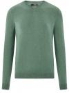 Пуловер базовый с V-образным вырезом oodji #SECTION_NAME# (зеленый), 4B212007M-1/34390N/6D00M