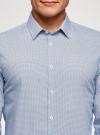 Рубашка приталенная с графичным принтом oodji #SECTION_NAME# (синий), 3L110249M/44425N/1079G - вид 4