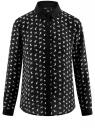 Блузка принтованная из шифона oodji для женщины (черный), 11400394-1/36215/2912K