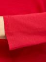 Водолазка хлопковая с надписью oodji для женщины (красный), 15E17001-1/46737N/4512P