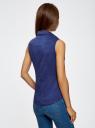 Рубашка базовая без рукавов oodji #SECTION_NAME# (синий), 11405063-6/45510/7500N - вид 3