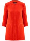 Пальто из фактурной ткани на крючках oodji #SECTION_NAME# (красный), 10103015-1/46409/4500N