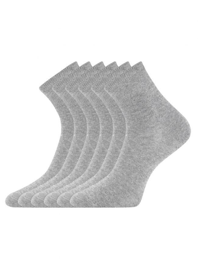 Комплект из шести пар носков oodji для женщины (серый), 57102466T6/47469/31