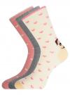 Комплект носков из 3 пар oodji #SECTION_NAME# (разноцветный), 57102901T3/47469/19 - вид 2