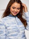 Куртка стеганая с круглым вырезом oodji для женщины (синий), 10204040-1B/42257/7080O - вид 4
