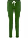 Брюки трикотажные спортивные oodji #SECTION_NAME# (зеленый), 16701010B/46980/6900N