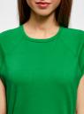 Футболка хлопковая базовая oodji для женщины (зеленый), 14707001-4B/46154/6A00N