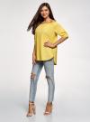 Блузка хлопковая с открытыми плечами oodji #SECTION_NAME# (желтый), 13K24002/21071N/5100N - вид 6