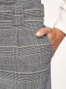 Брюки укороченные с поясом oodji для женщины (черный), 11705022-1/46960/2951C