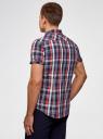 Рубашка клетчатая с нагрудными карманами oodji #SECTION_NAME# (разноцветный), 3L410118M/34319N/7541C - вид 3