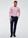 Рубашка принтованная из хлопка oodji #SECTION_NAME# (розовый), 3B110027M/19370N/1045G - вид 6