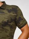 Поло милитари прямого силуэта oodji для мужчины (зеленый), 5L412000I/46737N/6629G