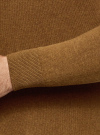 Джемпер базовый с круглым воротом oodji #SECTION_NAME# (коричневый), 4B112003M/34390N/3700M - вид 5