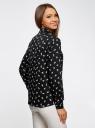 Блузка принтованная из вискозы oodji для женщины (черный), 11411098-1M/24681/2912A