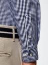 Рубашка хлопковая в клетку oodji #SECTION_NAME# (синий), 3L110319M/47823N/7975C - вид 5