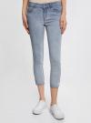 Капри джинсовые с потертостями oodji #SECTION_NAME# (синий), 12105016/45253/7000W - вид 2