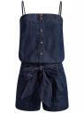 Комбинезон джинсовый на тонких бретелях oodji #SECTION_NAME# (синий), 13109007/18361/7900W
