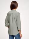 Блузка вискозная с нагрудными карманами oodji #SECTION_NAME# (серый), 11403225-7B/42540/2300N - вид 3