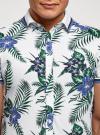 Рубашка принтованная с коротким рукавом oodji #SECTION_NAME# (белый), 5L301004M/46547N/1079F - вид 4