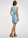 Платье льняное без рукавов oodji #SECTION_NAME# (синий), 12C00002-1B/16009/7000N - вид 3