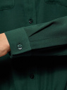 Блузка из струящейся ткани с нагрудными карманами oodji #SECTION_NAME# (зеленый), 11401278/36215/6900N - вид 5