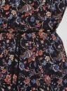 Блузка принтованная из вискозы oodji #SECTION_NAME# (черный), 11400345-2/24681/2945F - вид 5