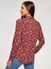 Блузка принтованная из вискозы oodji #SECTION_NAME# (красный), 11411087-1/24681/4970F - вид 3