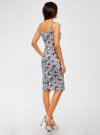 Платье-майка трикотажное oodji #SECTION_NAME# (разноцветный), 14015007-3B/37809/1241U - вид 3