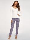 Пижама хлопковая с брюками oodji для женщины (разноцветный), 56002226/46154/1283E - вид 2
