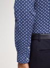 Рубашка принтованная приталенного силуэта oodji #SECTION_NAME# (синий), 3L310141M/46212N/7910E - вид 5