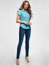 Рубашка базовая с коротким рукавом oodji #SECTION_NAME# (бирюзовый), 11401238-1/45151/7300N - вид 6