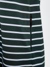 Платье трикотажное в полоску oodji #SECTION_NAME# (зеленый), 14001162-1/43603/6930S - вид 5