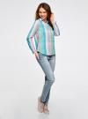 Блузка клетчатая прямого силуэта oodji для женщины (разноцветный), 11411131/46090/4165C - вид 6