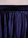 Юбка плиссе трикотажная oodji для женщины (синий), 24100036/47512/7900N