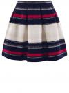 Юбка расклешенная с мягкими складками oodji #SECTION_NAME# (разноцветный), 11600391/43299/7920S