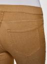 Джинсы-легинсы на эластичном поясе oodji для женщины (бежевый), 12104043-7B/46261/3500W