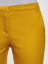 Брюки базовые летние oodji #SECTION_NAME# (желтый), 11704017B/14522/5701N - вид 4