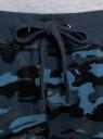 Брюки трикотажные на завязках oodji #SECTION_NAME# (синий), 16701042B/46919/7579O - вид 5