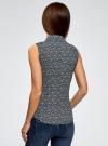 Рубашка базовая без рукавов oodji #SECTION_NAME# (синий), 11405063-4B/45510/7912E - вид 3